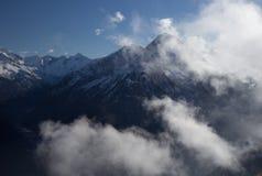 View of Alps at Mayrhofen ski resort. Tyrol, Austria Royalty Free Stock Photos