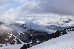 View of Alps at Mayrhofen ski resort. Tyrol, Austria Stock Photography