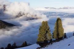 View of Alps at Mayrhofen ski resort. Tyrol, Austria Stock Photos