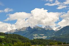 View of the Alps mountains in northern Italy Royalty Free Stock Photo