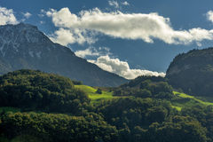 View from Alps. Switzerland, Europe Stock Images