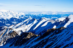 A view of the Alps from the top of a glacier Royalty Free Stock Photography