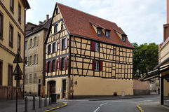 View of Alsace typical street Royalty Free Stock Photo