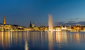 View of the Alster in Hamburg Stock Photos