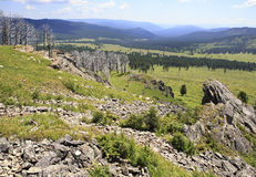 View Altai Mountains from the top of Tiyahty Stock Photo