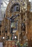 Mexico City. A view of an altar inside the Catedral Metropolitano on March 18, 2014 in Mexico City Stock Image