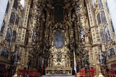 Mexico City. A view of The Altar of the Kings inside the Catedral Metropolitano on March 18, 2014 in Mexico City Stock Images