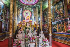View of Wat Leu temple Sihanoukville Cambodia. View of the altar of the temple wat leu on top of a mountain and in the middle of the jungle sihanoukville Stock Photos
