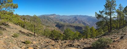 View from Altavista mountain to Gran Canaria Stock Image