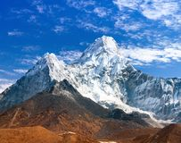View of Ama Dablam with beautiful cloudy sky Stock Photography