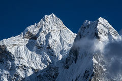 View of Ama Dablam from Dingboche Stock Photo