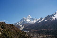 View of Ama Dablam Stock Photography