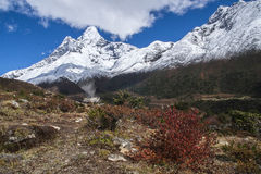 View of Ama Dablam from Pangboche Stock Images