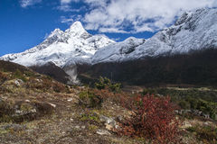 View of Ama Dablam from Pangboche Stock Image