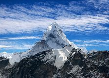 View of Ama Dablam on the way to Everest Base Camp Royalty Free Stock Photography