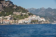 View of Amalfi. Amalfi is a charming resort town on the scenic Amalfi Coast of Italy.  stock photos