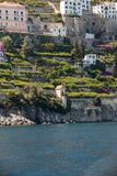 View of Amalfi. Amalfi is a charming resort town on the scenic Amalfi Coast of Italy.  royalty free stock photos