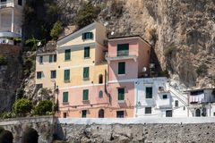 View of Amalfi. Amalfi is a charming resort town on the scenic Amalfi Coast of Italy.  royalty free stock photography