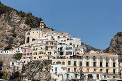 View of Amalfi. Amalfi is a charming resort town on the scenic Amalfi Coast of Italy.  stock image