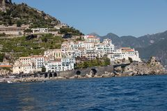 View of Amalfi. Amalfi is a charming resort town on the scenic Amalfi Coast of Italy.  stock images