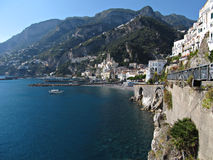 View of Amalfi coast. A panoramic view of Amalfi, the pearl of Amalfi coast Stock Images