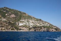 A view of the Amalfi Coast between Amalfi and Positano. Campania Stock Images