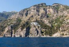A view of the Amalfi Coast between Amalfi and Positano. Campania Stock Photo