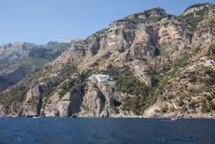 A view of the Amalfi Coast between Amalfi and Positano. Campania. Italy royalty free stock photo