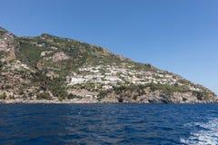 A view of the Amalfi Coast between Amalfi and Positano. Campania. Italy stock photos