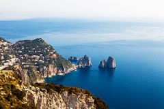 View From Amalfi Coast in Italy Royalty Free Stock Photos