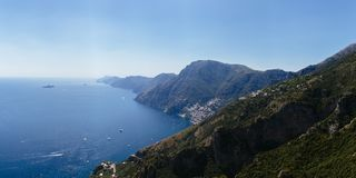 View of Amalfi Coast from the Path of the Gods near Positano, It stock image