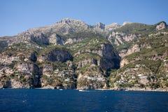 A view of the Amalfi Coast between Amalfi and Positano. Campania. Stock Photo