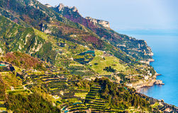 View of the Amalfi Coast from Ravello Stock Photography