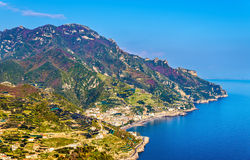 View of the Amalfi Coast from Ravello. Italy Royalty Free Stock Photos