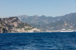 A view of the Amalfi Coast between  Sorrento and Amalfi. Campani Stock Photography