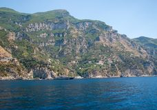 A view of the Amalfi Coast between Sorrento and Amalfi. Campania. Italy Stock Image