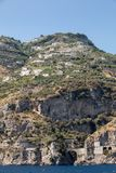 A view of the Amalfi Coast between Sorrento and Amalfi. Campania. Italy stock image