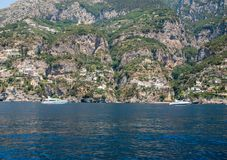 A view of the Amalfi Coast between Sorrento and Amalfi. Campania. Italy stock photos