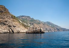 A view of the Amalfi Coast between Sorrento and Amalfi. Campania. Italy Stock Photography