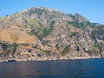 A view of the Amalfi Coast between Sorrento and Amalfi. Campania. Italy royalty free stock image