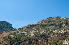 A view of the Amalfi Coast between Sorrento and Amalfi. Campania. Italy stock images