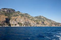A view of the Amalfi Coast between Sorrento and Amalfi. Campania. Italy royalty free stock photos