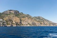 A view of the Amalfi Coast between Sorrento and Amalfi. Campania. Italy stock photography