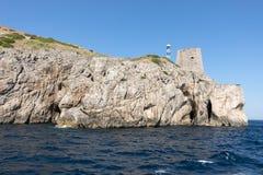 A view of the Amalfi Coast between Sorrento and Positano. Campania Royalty Free Stock Photo