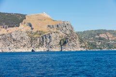 A view of the Amalfi Coast between Sorrento and Positano. Campania Stock Photo