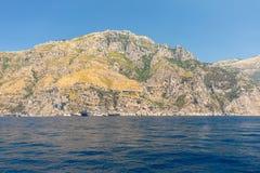 A view of the Amalfi Coast between Sorrento and Positano. Campania Stock Photos