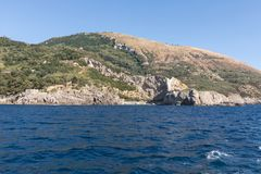 A view of the Amalfi Coast between Sorrento and Positano. Campania. Italy Royalty Free Stock Images