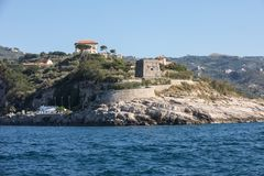 A view of the Amalfi Coast between Sorrento and Positano. Campania. Italy royalty free stock photos