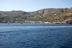 A view of the Amalfi Coast between Sorrento and Positano. Campania. Italy royalty free stock photography