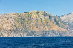 A view of the Amalfi Coast between Sorrento and Positano. Campania. Italy Royalty Free Stock Image